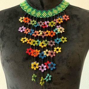 Green Spring Rain Necklace